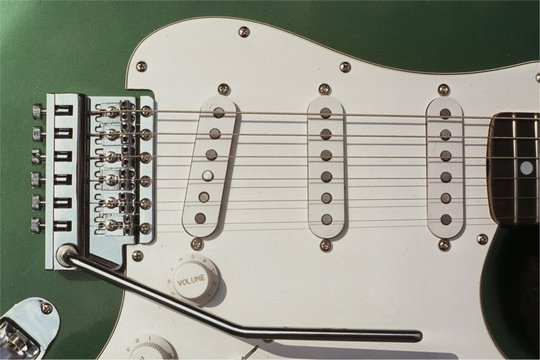 Green metallic Strat